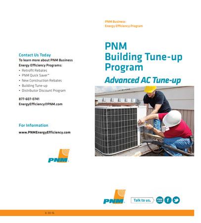 PNM Advanced AC Tune-Up Program brochure