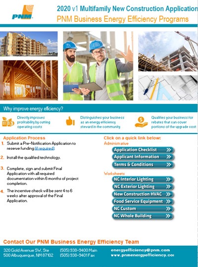 Multifamily New Construction Application