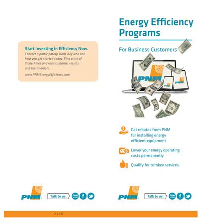 PNM Energy Efficiency Programs for Business Customers brochure